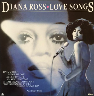 Diana Ross - Love Songs (LP) (EX/VG)